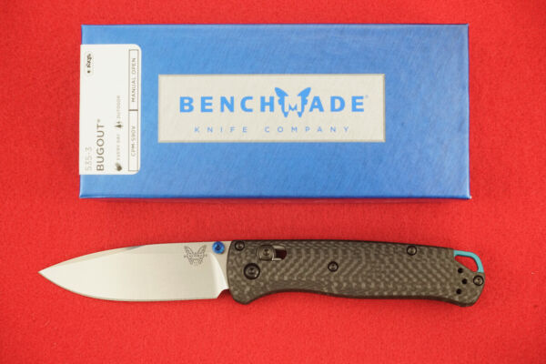 BENCHMADE 535 3 BUGOUT CPM S90V CARBON FIBER HANDLE AXIS LOCK KNIFE