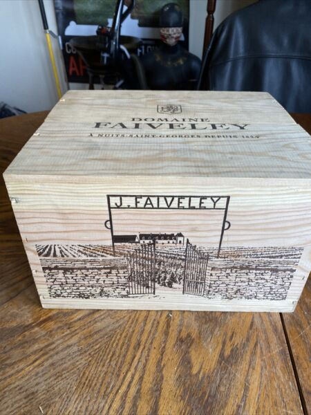 Rare 2015 grand cru domaine faiveley wine crates with inserts and partial lid