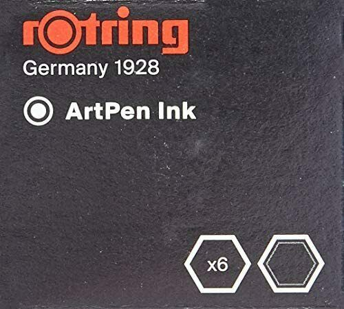 Rotring Art Pen Replacement Ink Cartridges Black S0 194 751 Germany 1928