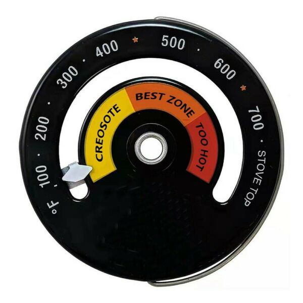 Magnetic Wood Stove Thermometer Heat Powered Temperature Gauge For Log Burning $9.23
