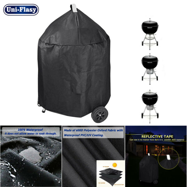 Waterproof Grill Cover for Weber 22quot; Premium Charcoal Grills Char Broil Grills