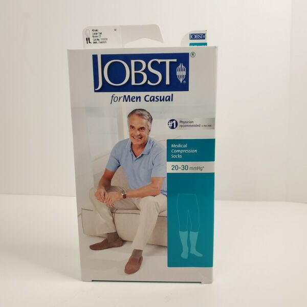 Jobst for Mens Casual Compression Knee Socks 20 30 mmhg Therapeutic Large Tall $47.99