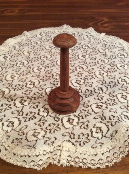 """Miniature Hat Wooden Stand Display 3"""" Tall"""