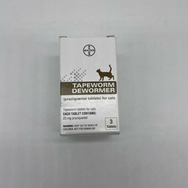 Bayer Tapeworm Dewormer for Cats 6 Weeks and Older 3 Count $14.00