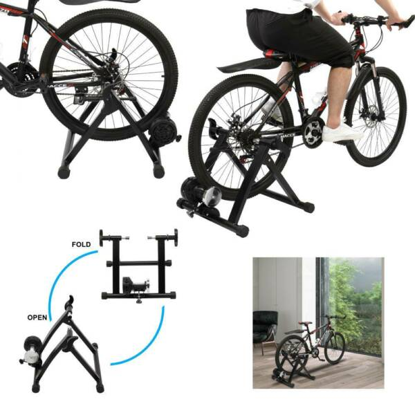 US Indoor Magnetic Bike Trainer Cycling Stationary Roller Exercise Fitness Stand $60.64