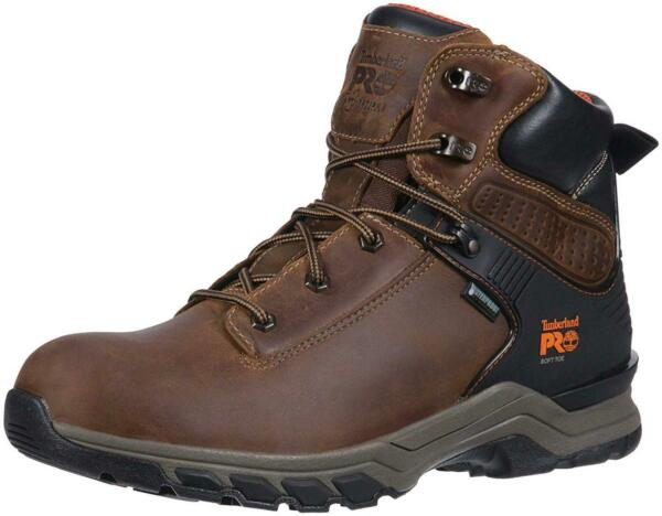 Timberland PRO Men#x27;s Hypercharge 6quot; Soft Toe Waterproof Industrial Brown Size $70.72