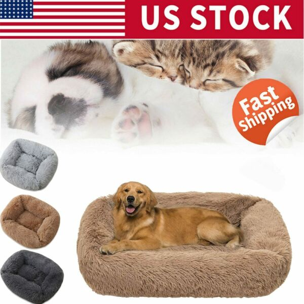 Machine Washable Dog beds Comfortabl Puppy Calming Bed Sleeping Mat Cozy Kennel $52.43