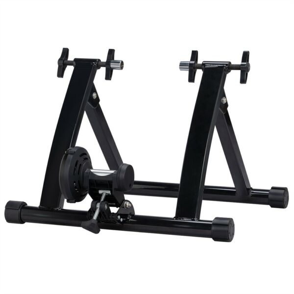 Foldable Magnetic Resistance Indoor Bike Trainer Stand w Quick Release Skewer $55.00