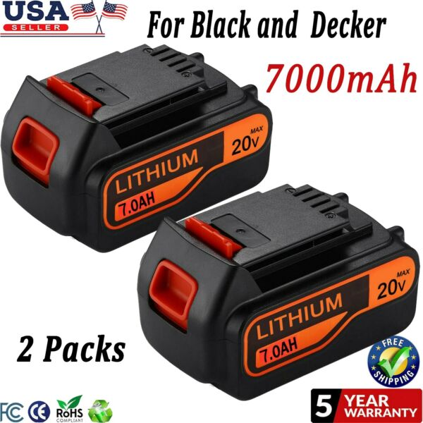 for Blackamp;Decker 20V 20 Volt MAX 7.0Ah Lithium Battery LBXR20 LB20 LBX20 Li ion