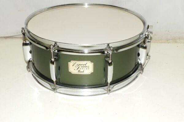 Pearl 5.5 x 14quot; Export Series Wood Drum Kit Snare Drum Gray Green Color