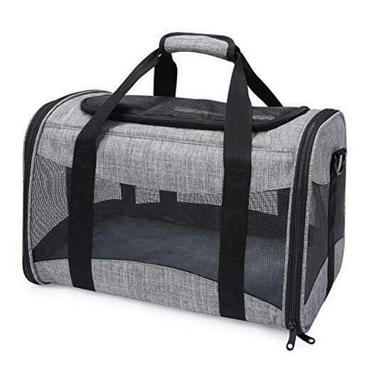Dog Carriers for Small Dogs Soft Sided Small Dog Travel Carrier with Mesh Grey $36.44