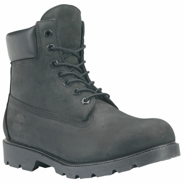 Timberland Men's Icon 6quot; Basic Waterproof Boot Black Size 10 Wide $97.49