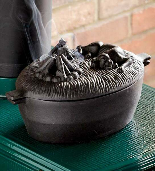 Wood Stove Steamer Dog Cast Iron Solid Kettle Humidifier Black Vintage Pot 2.7Qt $149.99