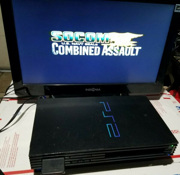 Original SONY PS2 System Bundle Socom Game Fully Loaded $114.00