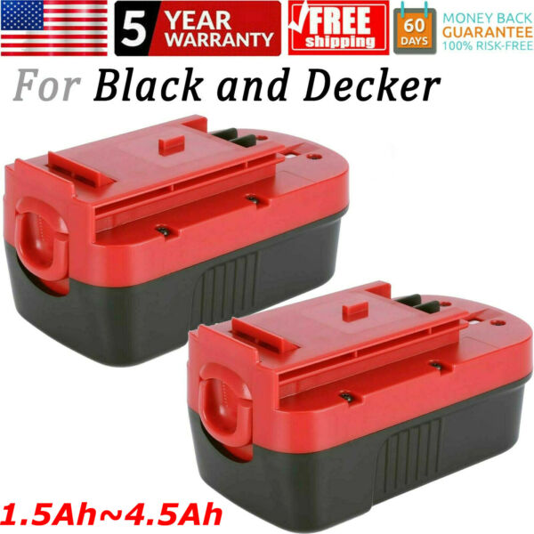 2PCS for Black amp; Decker HPB18 18V 18Volt 4.5Ah Ni MH Battery HPB18 OPE 244760 00
