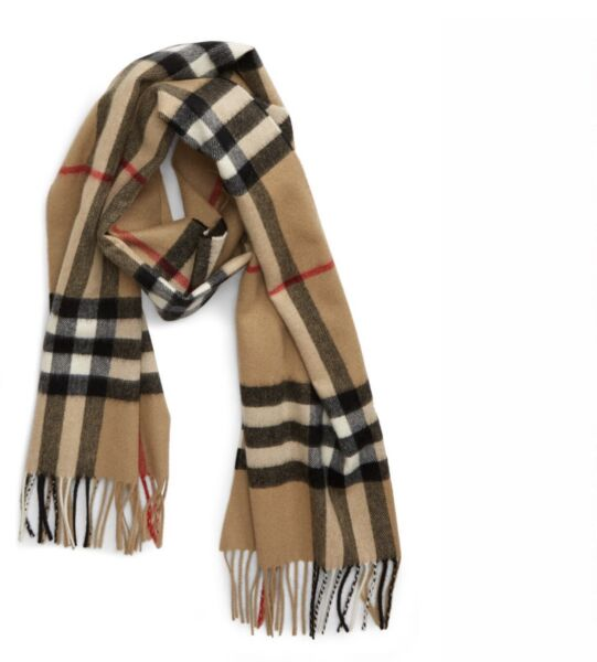 Giant 100% cashmere classic burberry scarf $180.00