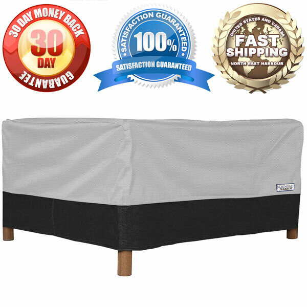 Outdoor Patio Square Ottoman Side Table Furniture Cover 26quot;L x 26quot;W x 18quot;H $18.99