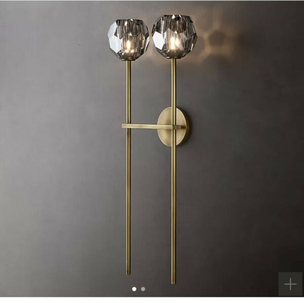 Restoration Hardware BOULE DE CRISTAL GRAND DOUBLE SCONCE $315.00