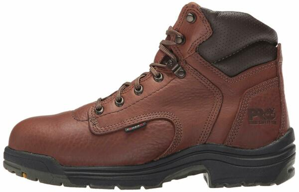 Timberland PRO Men#x27;s Titan 6quot; Safety Toe Work Brown Brown Size WB63 $59.26