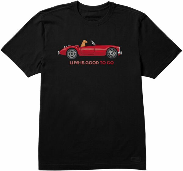Life Is Good Mens Good Dog To Go Crusher T Shirt $28.00