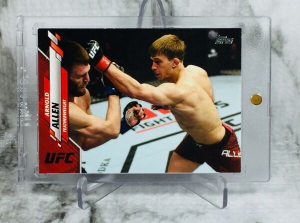 """2020 Topps UFC """"ALMIGHTY"""" ARNOLD ALLEN #2 8 """"RUBY RED"""" SSP PARALLEL CARD 📈 $99.99"""