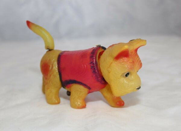 Vintage Wind Up Celluloid Toy Dog Made In Japan Bobbing Head $22.50