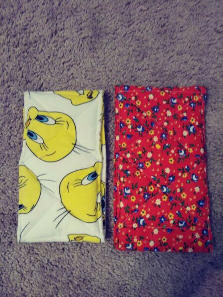 Male Dog Washable Belly Bands Set of 2 Handmade Red Floral amp; Tweety Bird $14.99