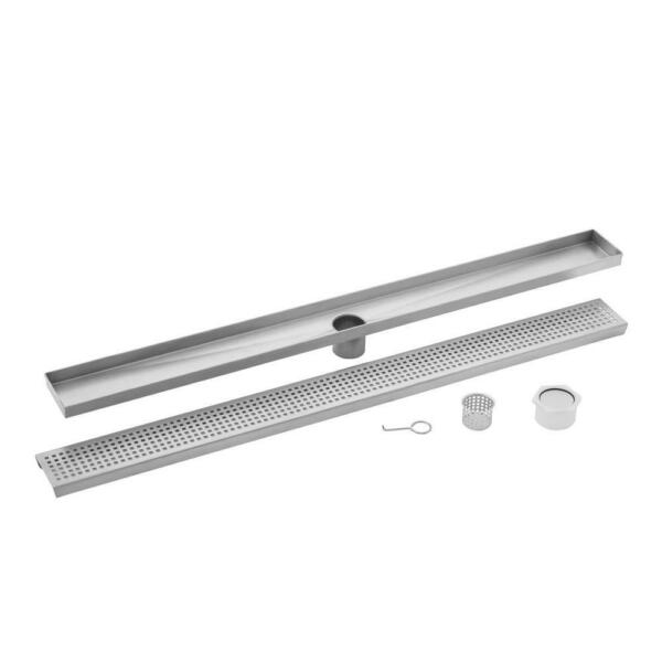 🔥IPT Sink Company 30 In. Stainless Steel Square Grate Linear Shower Drain
