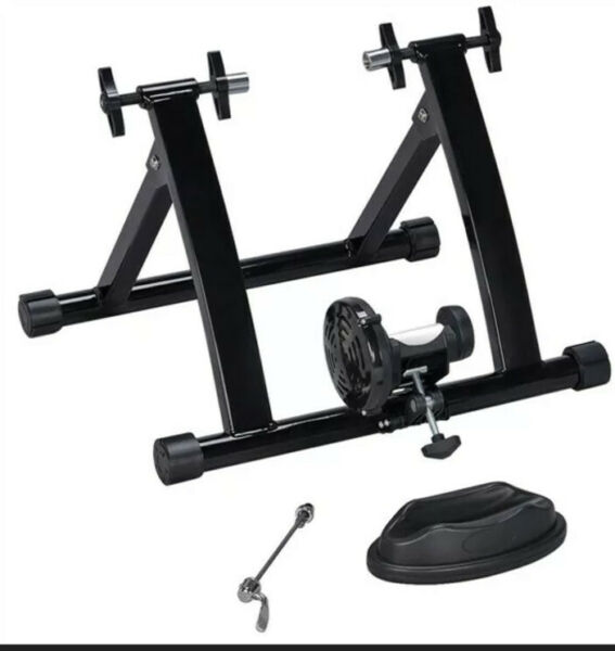 Foldable Magnetic Resistance Indoor Bike Trainer Stand w Quick Release Skewer $80.00