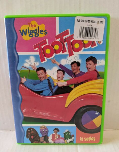 The Wiggles Toot Toot 2004 DVD Original Cast GREEN 18 Songs Storybook DISC