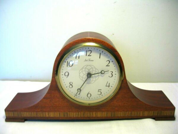 VINTAGE SETH THOMAS WOOD ELECTRIC MANTLE CLOCK with CHIMES LYNTON 2E E531 001 $82.50
