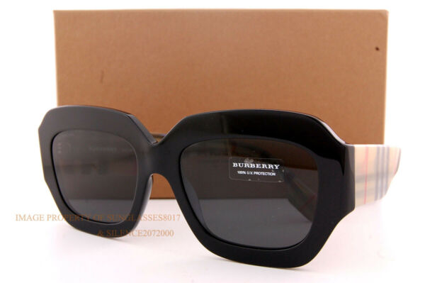 Brand New Burberry Sunglasses BE 4334 3929 87 Black Grey For Women $179.99