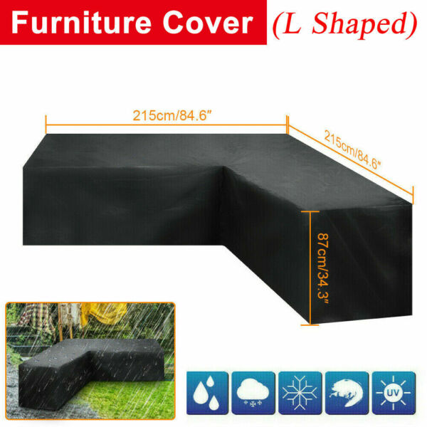 Outdoor Patio Furniture Cover L Shaped Sectional Sofa Cover Waterproof Dustproof $25.99