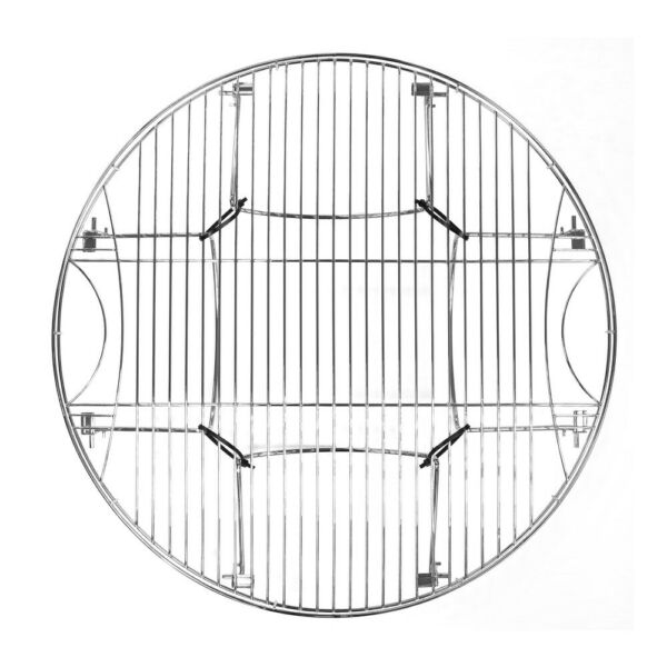 Cooking Grate Round Large Folding Legs Steel For Camping Backyard Camp Fire Pit