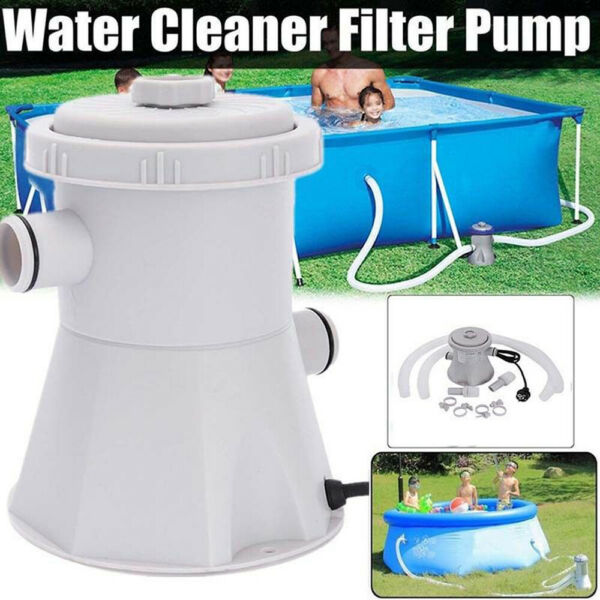 Electric Swimming Pool Water Cleaning Tool Above Ground Pool Filter Pump CLEAN! $78.59