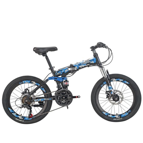 Mountain Bike for Kids 20 inch Daul Disc Brakes Folding Bicycle for boys New $229.90