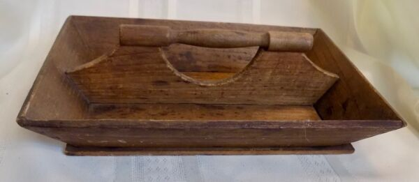 Small ANTIQUE Country PRIMITIVE KNIFE BOX TRAY