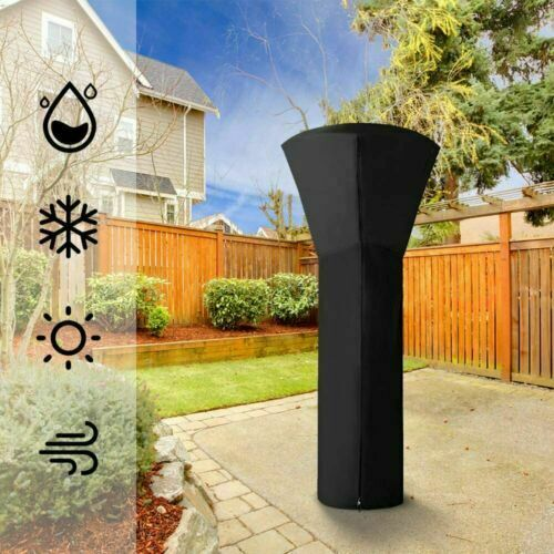 Stand Up Patio Heater Cover UV Resistant Waterproof Pulling Rope Design NEW