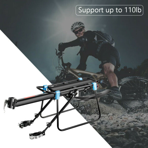New Rear Bicycle Rack Cargo Rack Bike Quick Release Mount Alloy Carrier $19.99