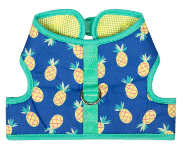 Simply Dog BLUE WITH YELLOW PINEAPPLES HARNESS Puppy Dog SMALL $22.50