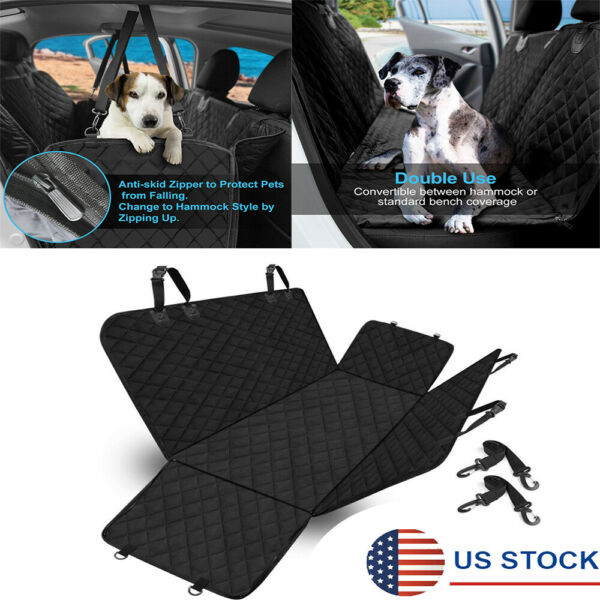 Black Car Rear Seat Pet Dog Cover Seat Cushion Protector Mat Non slip Waterproof $49.99