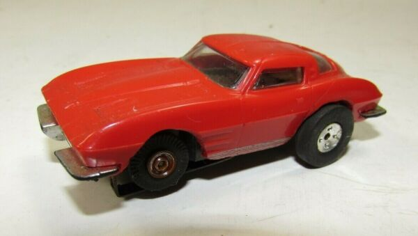 60#x27;s Aurora 1963 Corvette ThunderJet Slot Car Red