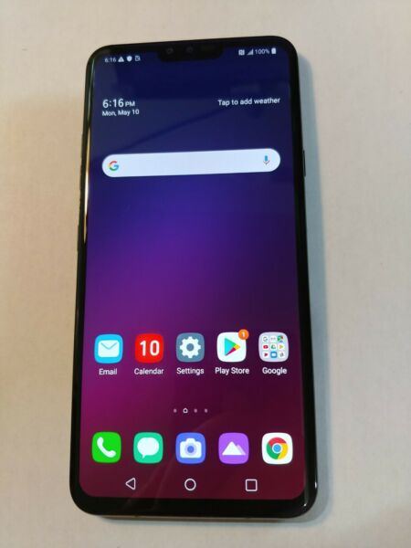 LG V40 ThinQ LMV405UA 64GB Aurora Black ATamp;T ** GSM UNLOCKED **