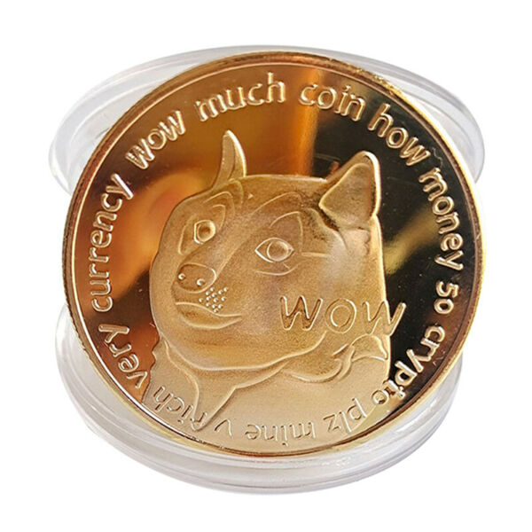 Dogecoin Coin Commemorative Coins Cute Dog Pattern Souvenir Collection Gifts $2.89