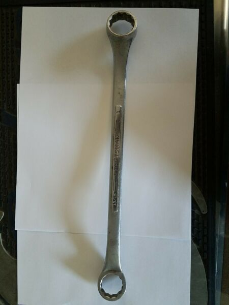 CRAFTSMAN USA 1quot; x 15 16quot; Offset SAE INCH Double BOX END WRENCH.quot;Vquot;