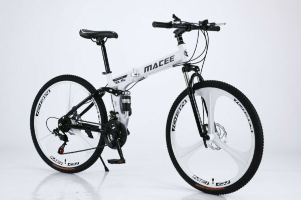 26 Inch Aluminum Mountain Bike 21 Speed Full Suspension Outdoor Bicycle MTB❤ $189.99