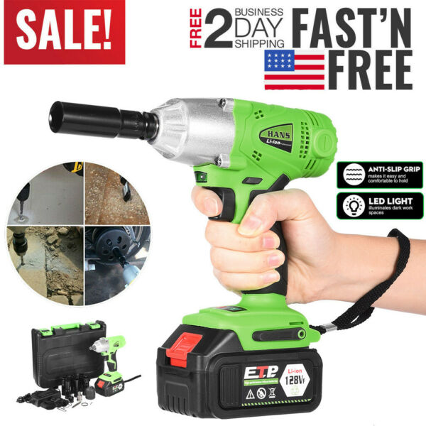 16800 mAh 1 2#x27;#x27; Electric Brushless Cordless Impact Wrench Drill High Torque Tool