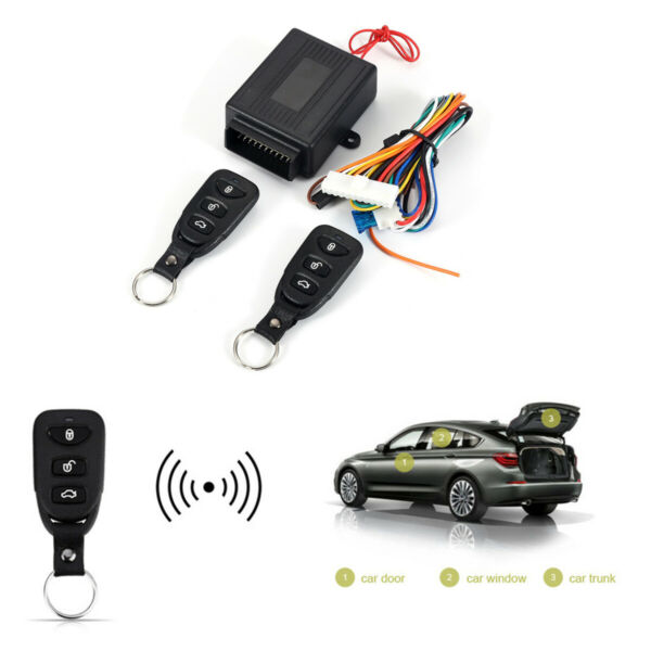 Universal Car 2 Remote Central Kit Auto Door Lock Vehicle Keyless Entry System $18.80