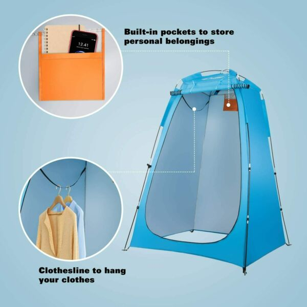 Foldable Changing Room Shower Tent Instant Portable Shower Tent Shelter Toilet $42.99