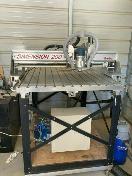 Gerber Dimension 200 CNC Router  Wood Carving  CNC Sign Making  $4750.00